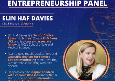 MedTech UCL AI in Medicine Series Entrepreneurship Panel with Emilia Molimpakis (Thymia), Krishan Ramdoo (TympaHealth) and Elin Haf Davies (aparito)